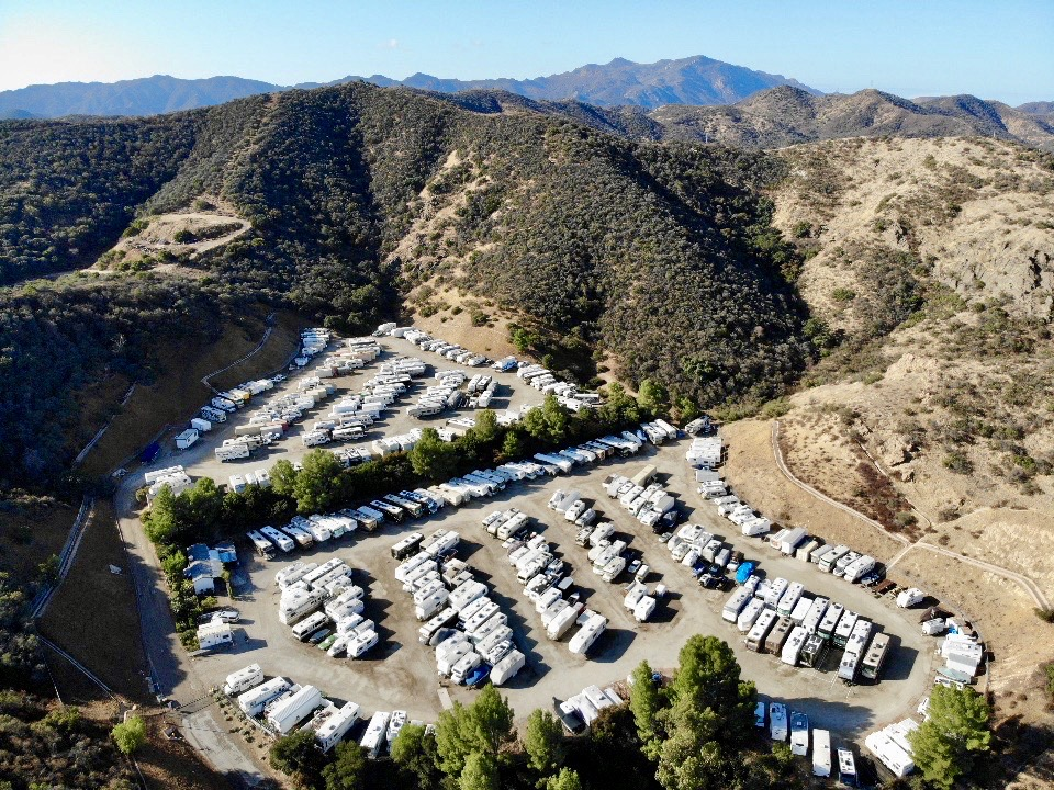 Aerial view of Westlake RV Storage in Thousand Oaks, CA
